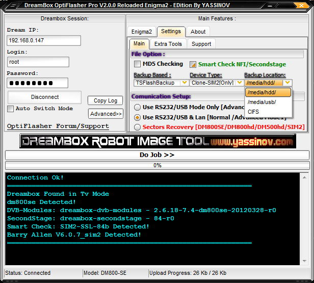 Dreambox OptiFlasher v2.0.0c Pro Enigma2 EDition Released